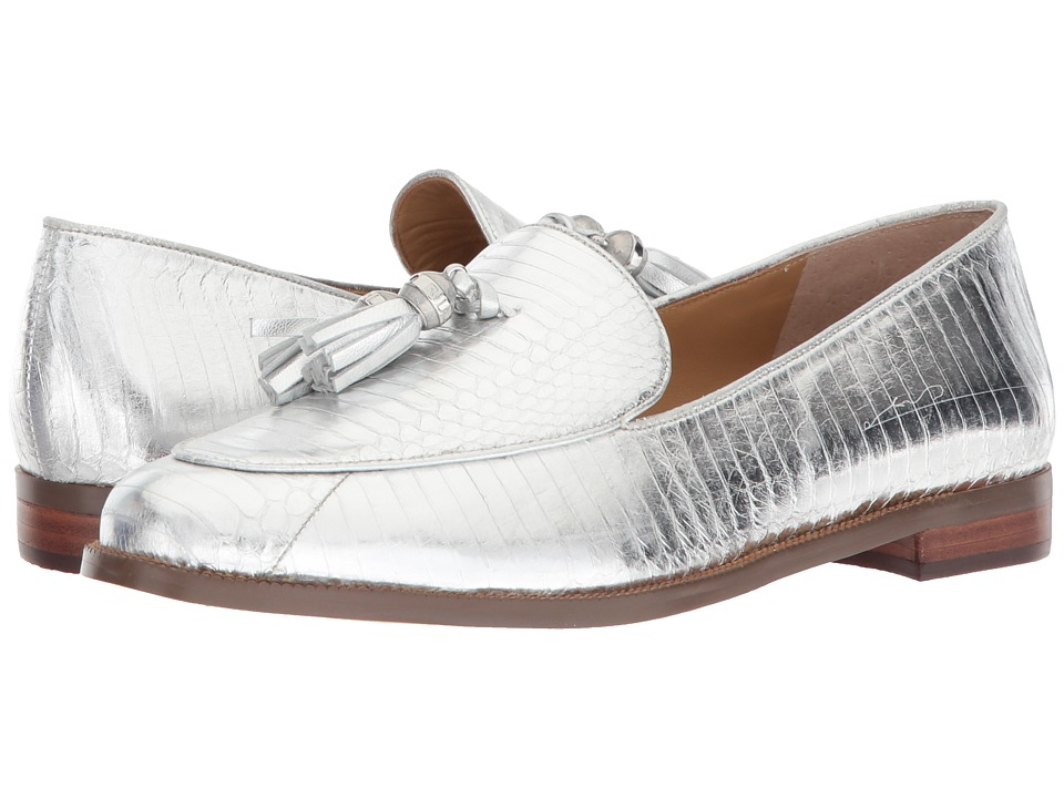 LAUREN Ralph Lauren Brindy RL Silver Metallic Snake Womens Shoes