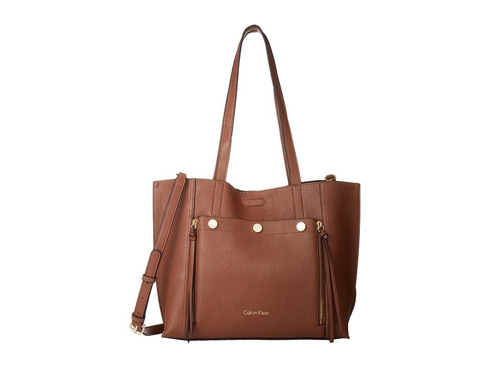 Calvin Klein - Unlined Jet Link Tote (Luggage/Black) Tote Handbags