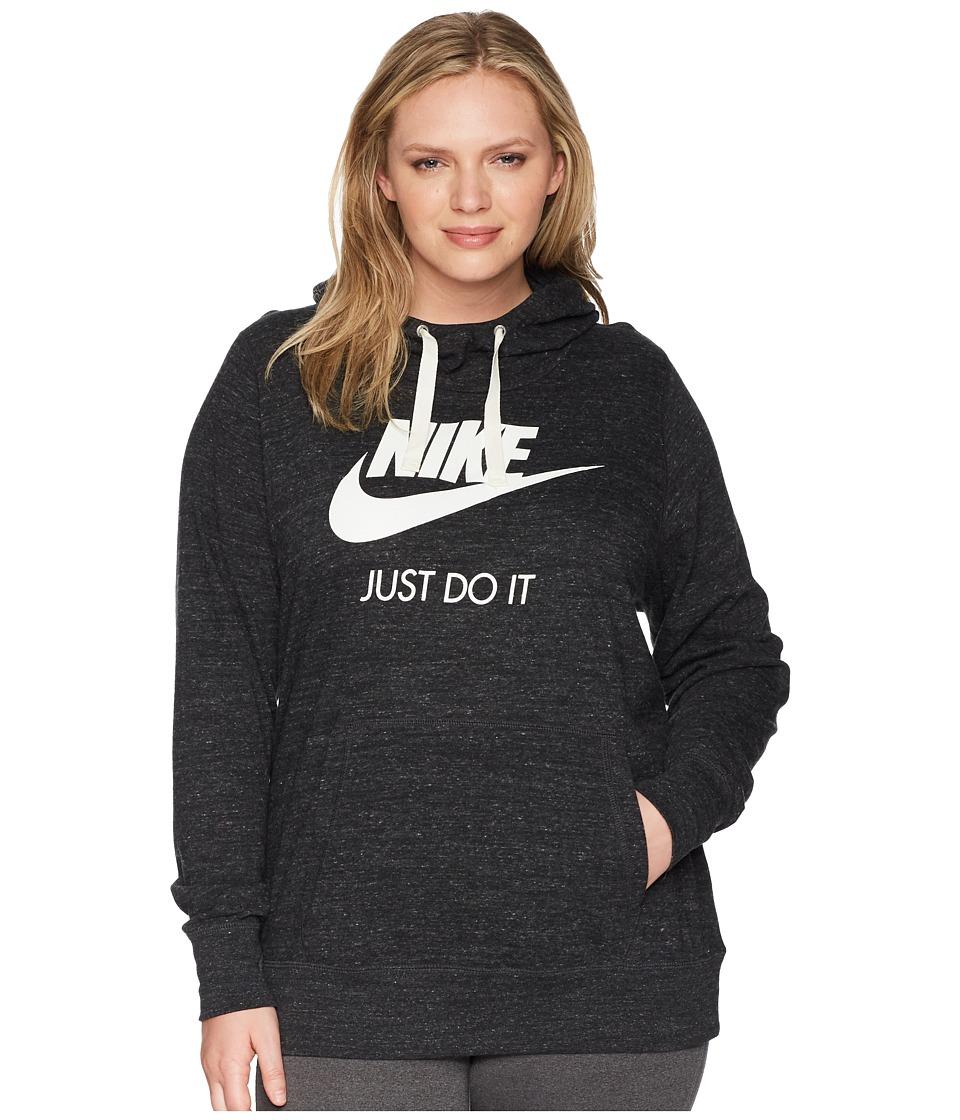 Nike NSW Gym Vintage Pullover Hoodie (Size 1X-3X) (Black/Sail) Women