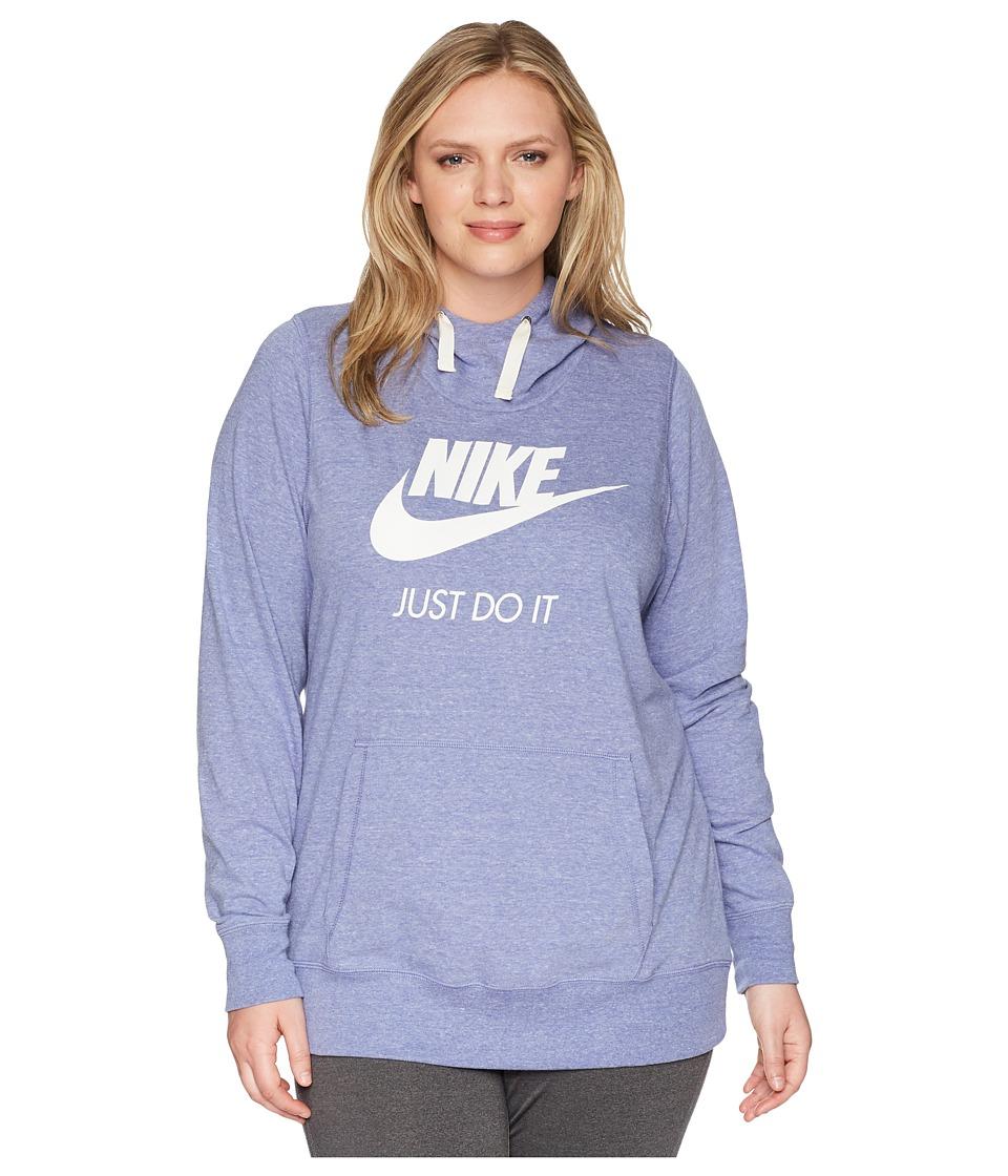 Nike NSW Gym Vintage Pullover Hoodie (Size 1X-3X) (Purple Slate/Sail) Women