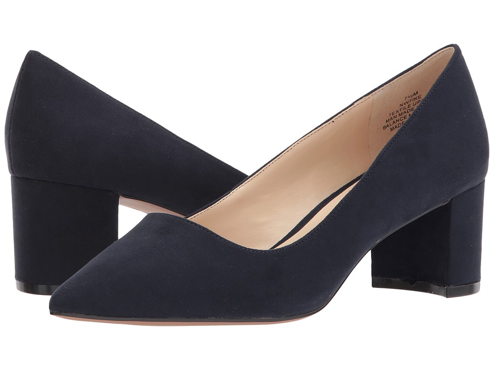 Nine West - Ike (Navy) Women's 1-2 inch heel Shoes