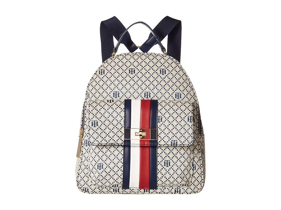 Tommy Hilfiger Angie Backpack (Navy/Natural) Backpack Bags
