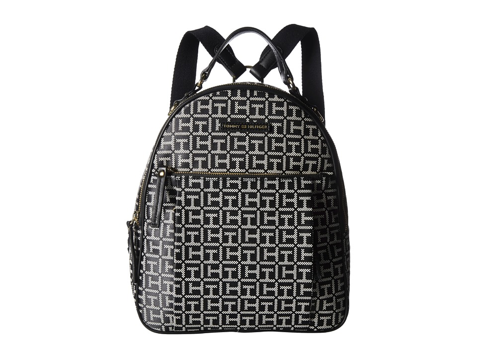 Tommy Hilfiger Kelby Backpack (Black/White) Backpack Bags
