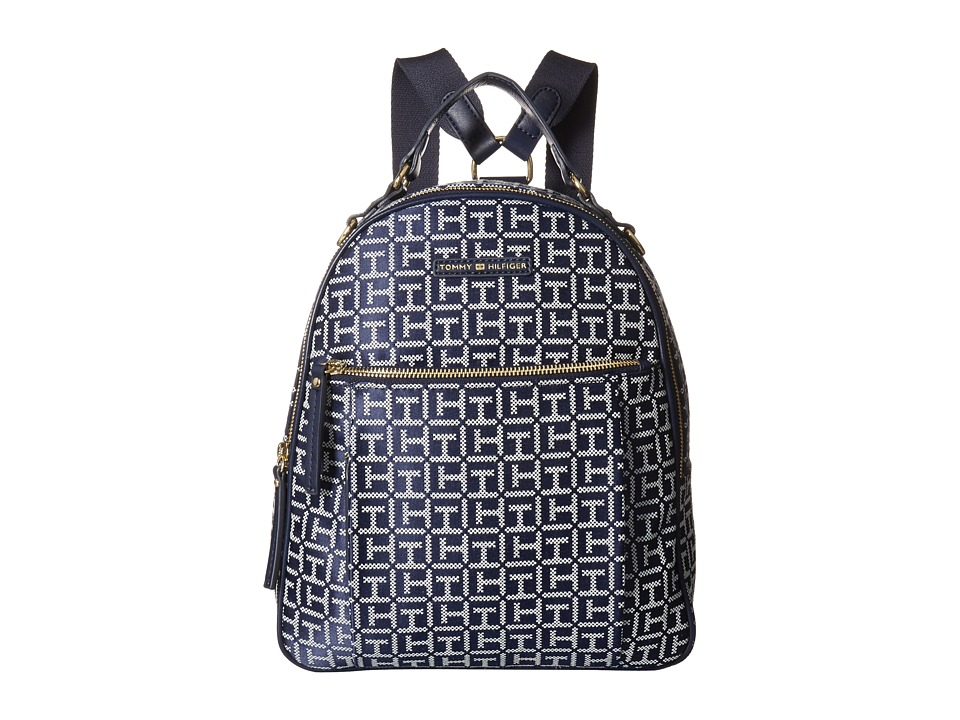 Tommy Hilfiger Kelby Backpack (Navy/White) Backpack Bags