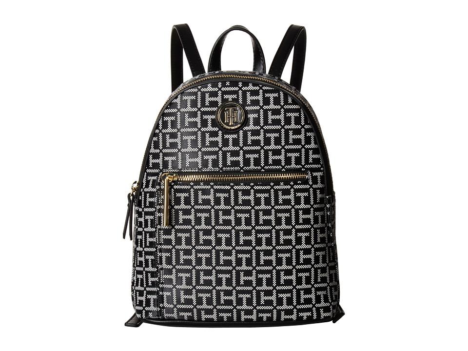 Tommy Hilfiger Geneva Backpack (Black/White) Backpack Bags