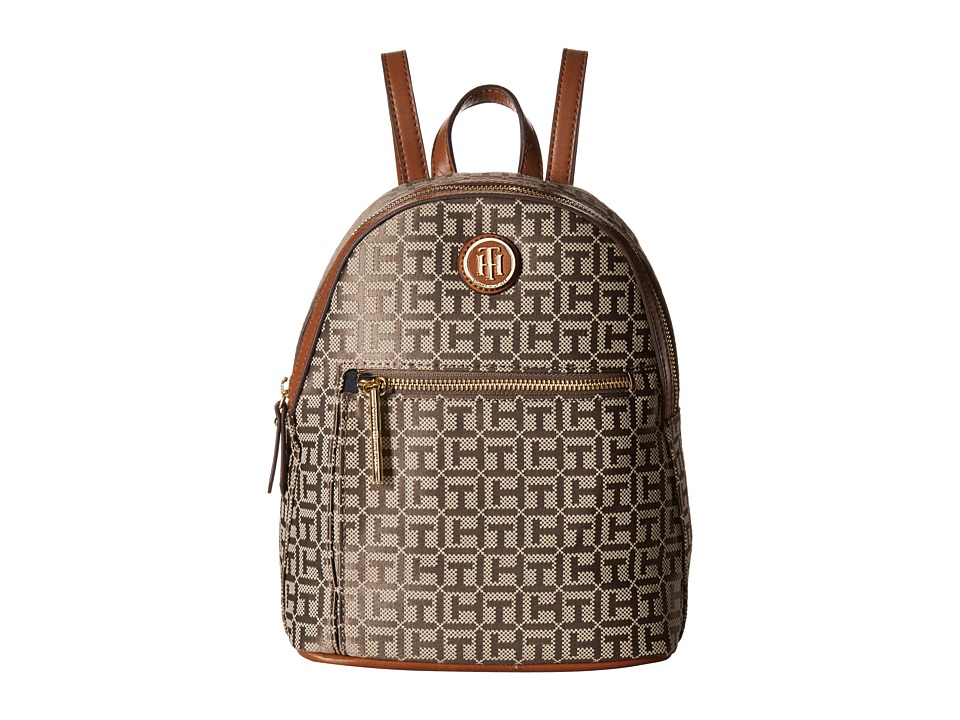 Tommy Hilfiger Geneva Backpack (Tan/Dark Chocolate) Backpack Bags