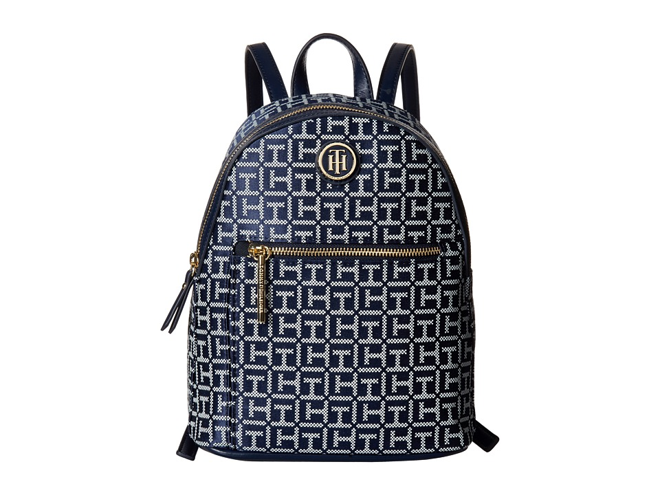 Tommy Hilfiger Geneva Backpack (Navy/White) Backpack Bags