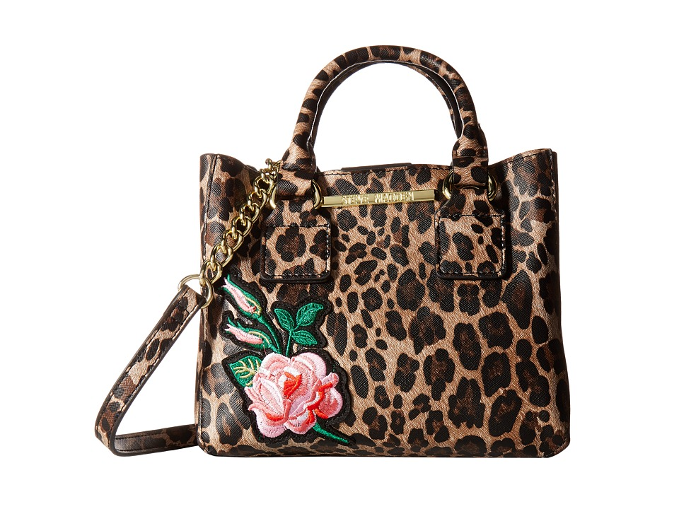 Steve Madden - Bmicro Triple Entry Satchel (Leopard) Satchel Handbags