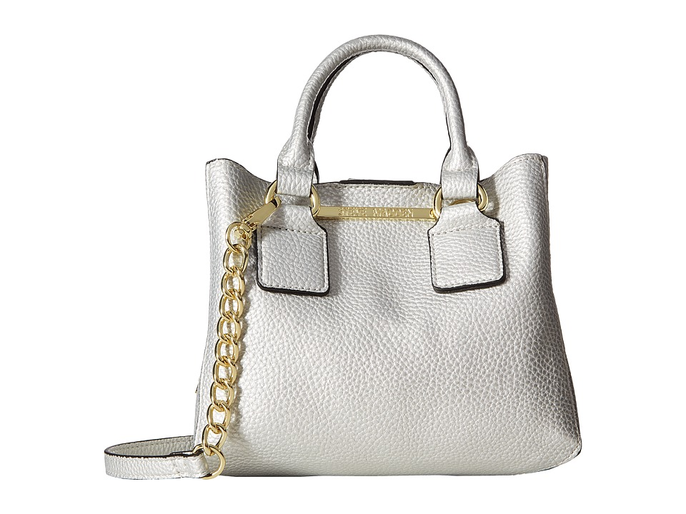 Steve Madden - Bmicro Triple Entry Satchel (Silver) Satchel Handbags