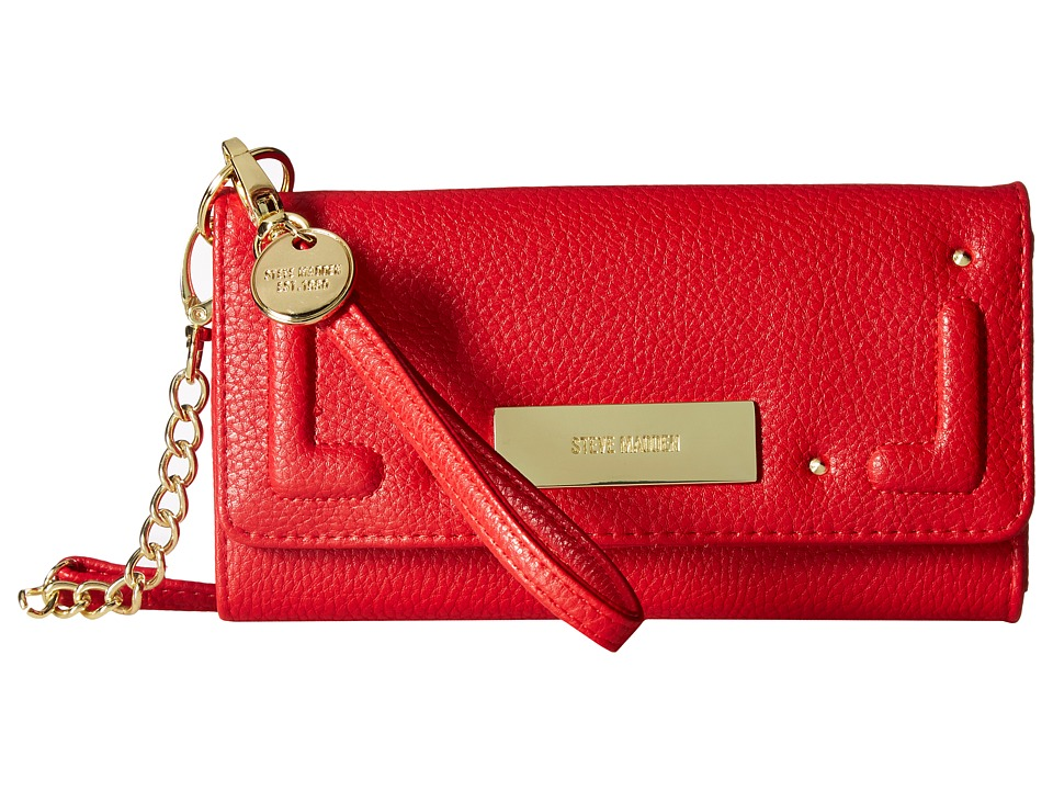 Steve Madden - Tech Wallet on A String (Red) Wallet Handbags