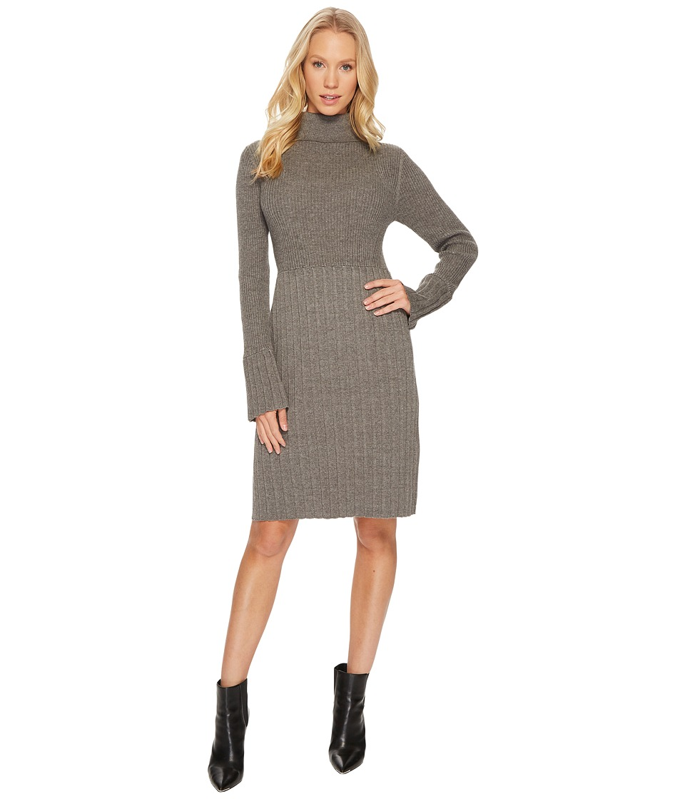 Adrianna Papell Turtleneck Slim Sweater Dress