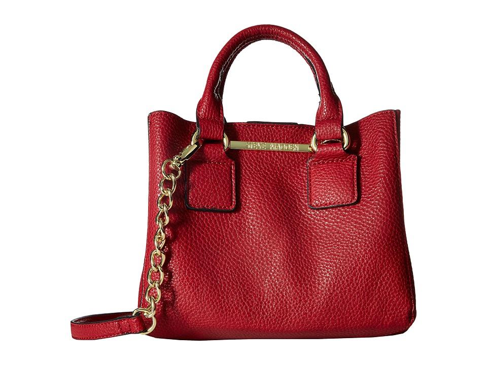 Steve Madden - Bmicro Triple Entry Satchel (Dark Red) Satchel Handbags