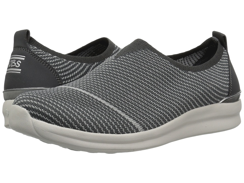 BOBS from SKECHERS - Bobs Phresher - Home Stretch (Charcoal) Women's Slip on Shoes