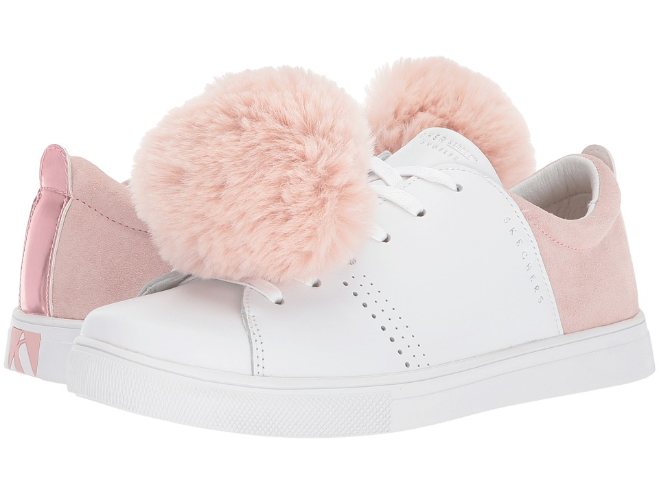 SKECHERS Street - Moda - Pom Street (White/Pink) Women's Shoes