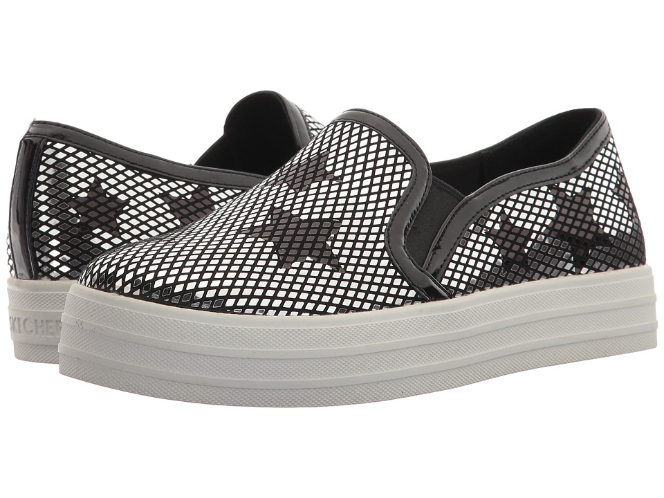 SKECHERS Street - Double Up - Star Shine (Black/Silver) Women's Shoes