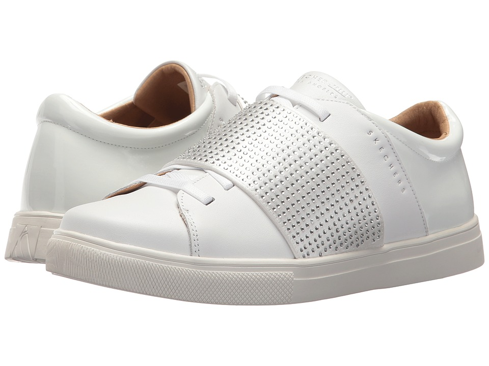 SKECHERS Street - Moda - Bling Park (White) Women's Shoes