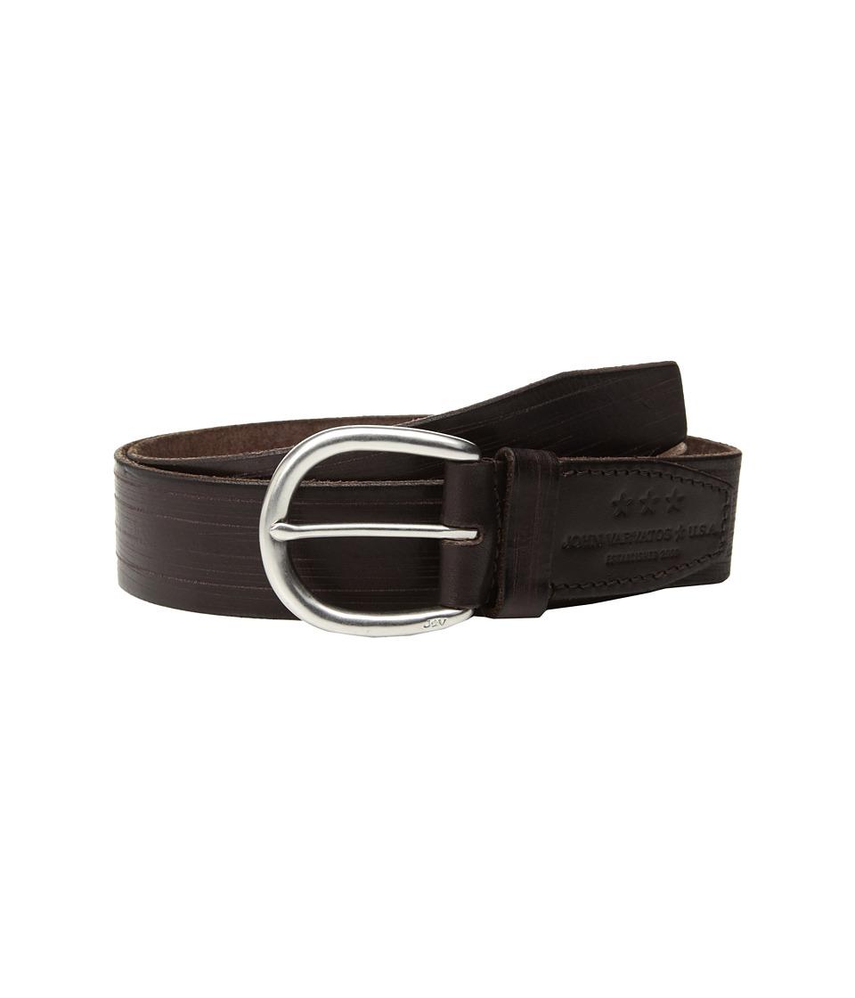 John Varvatos Star U.S.A. Hand Burnished Belt (Chocolate) Men's Belts
