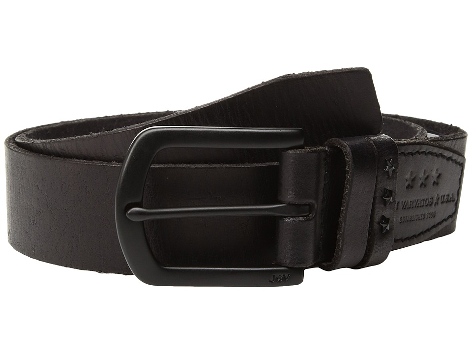John Varvatos Star U.S.A. - Studded Joint Belt (Black) Men's Belts