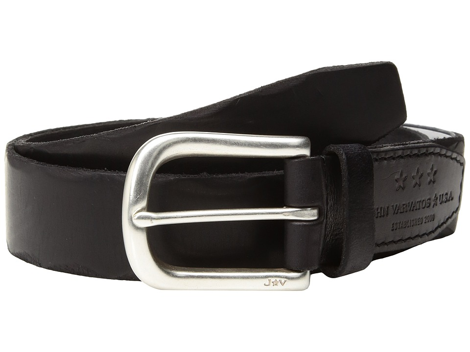John Varvatos Star U.S.A. - Scalloped Edge Belt (Black) Men's Belts