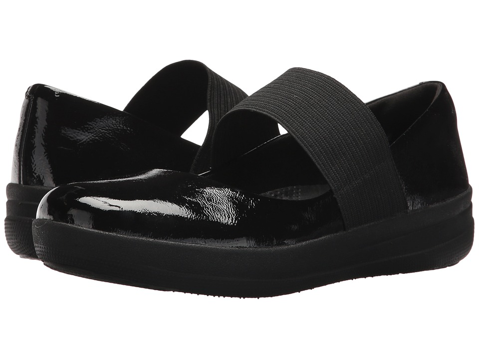 FitFlop F-Sporty Elastic Mary Jane (Black) Women