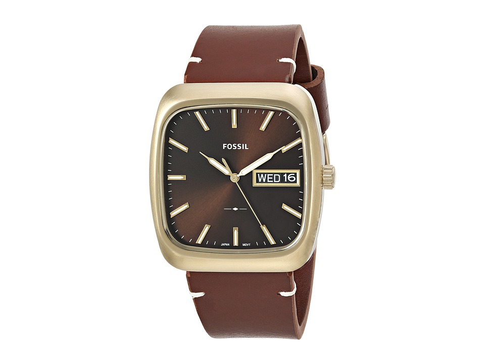 Fossil - Rutherford FS5332 (Gold/Brown) Watches