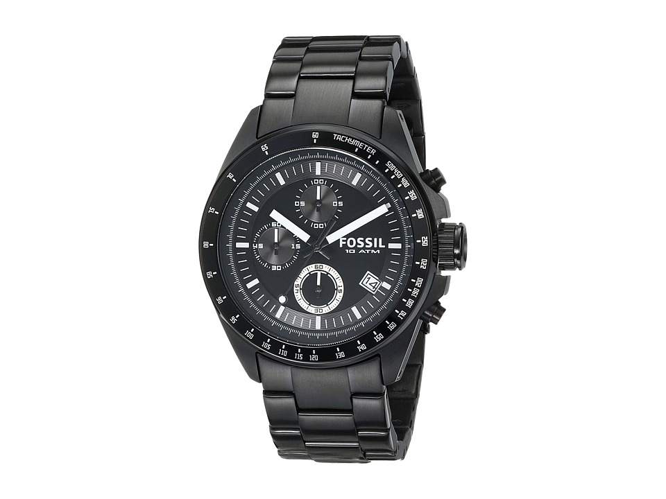 Fossil - Decker CH2601IE (Black) Watches