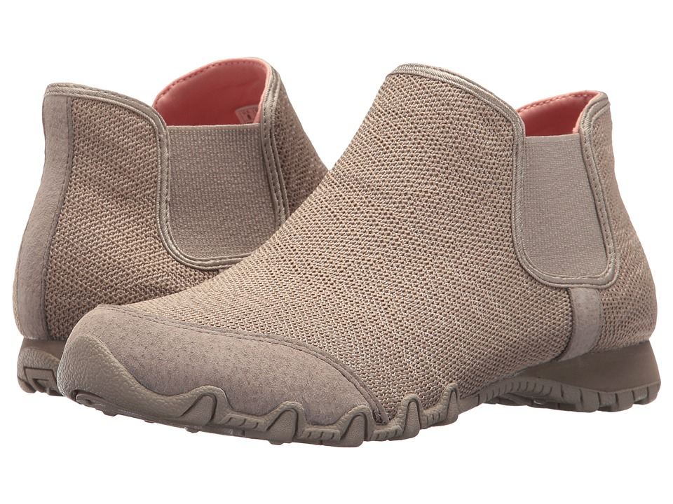 SKECHERS - Bikers - Chelsea Boot (Taupe) Women's Shoes