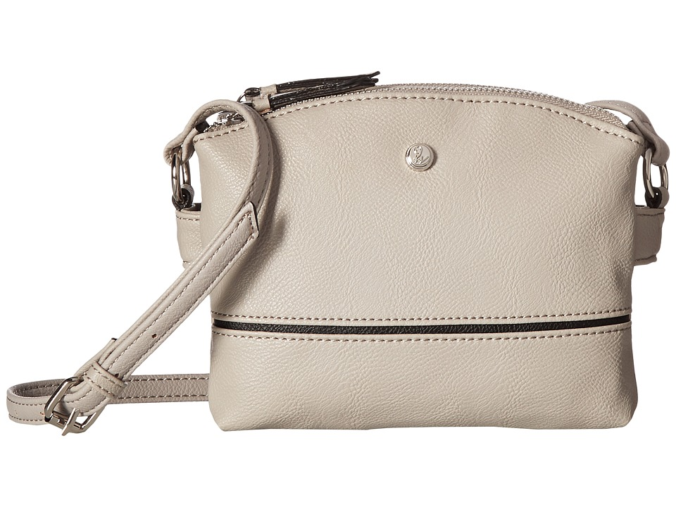 Nine West - Zabrina Crossbody (Dove/Black/Dove) Cross Body Handbags