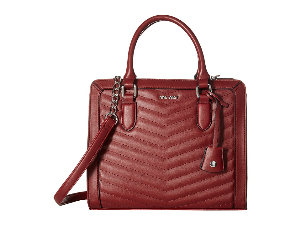 Nine West - You and Me Satchel (Oxblood) Satchel Handbags