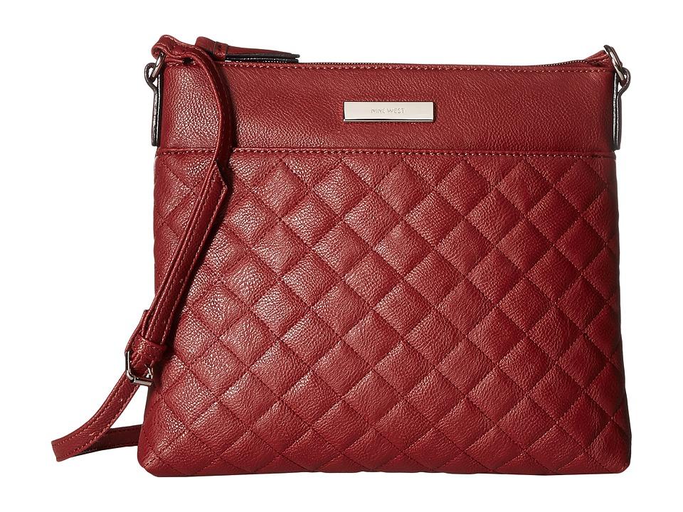 Nine West - Marren Crossbody (Oxblood) Cross Body Handbags