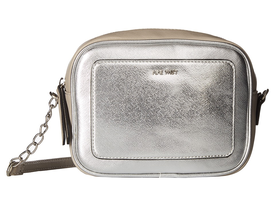 Nine West - Elenore Crossbody (Metallic Silver/Dove) Cross Body Handbags