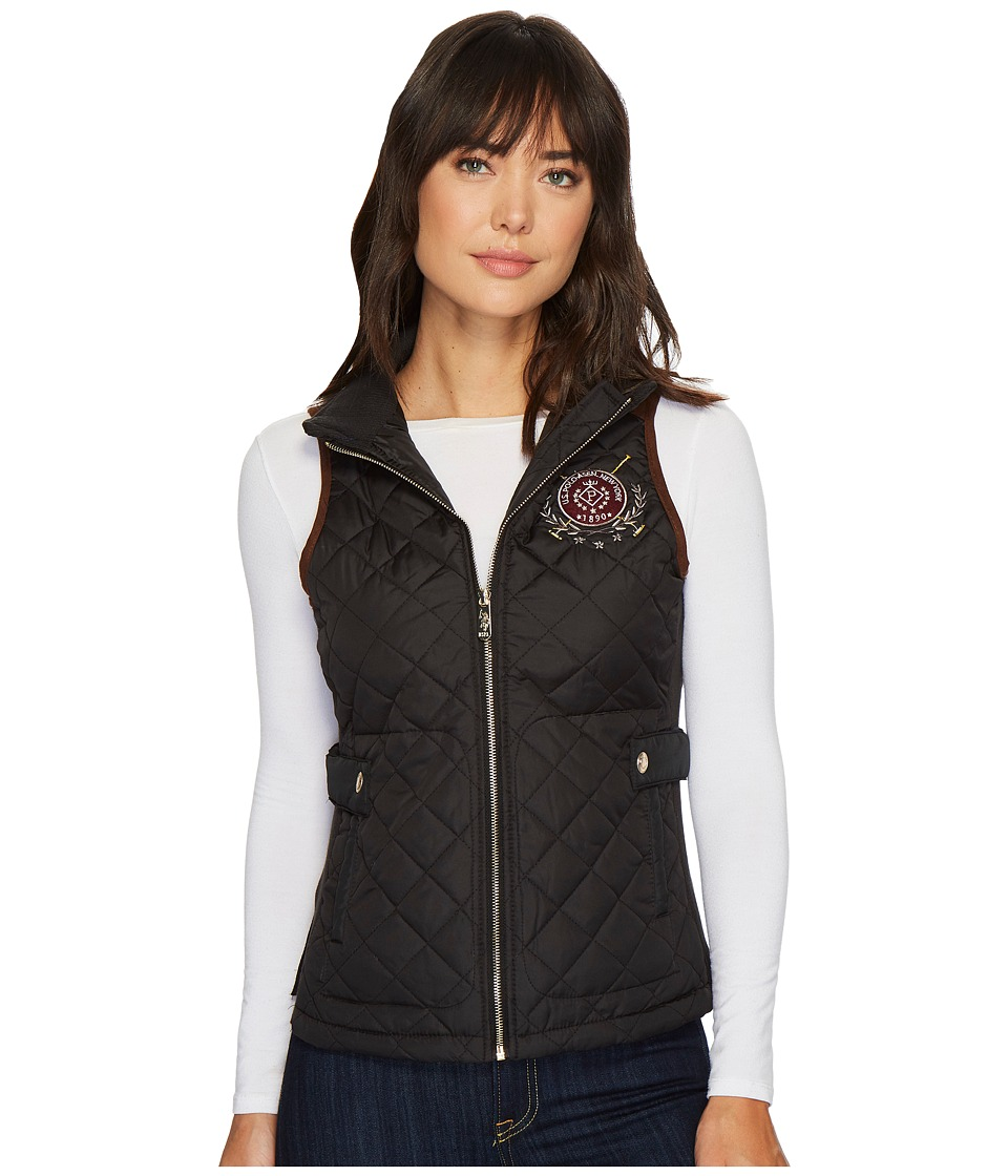 U.S. POLO ASSN. - Side Knit Vest (Black) Women's Vest