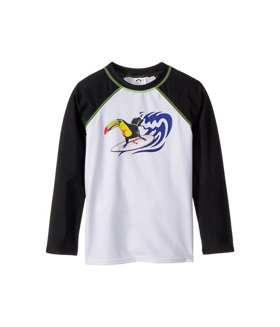 Appaman Kids UPF 50+ Surf Parrot Long Sleeve Rashguard (Toddler/Little Kids/Big Kids) (Black) Boy