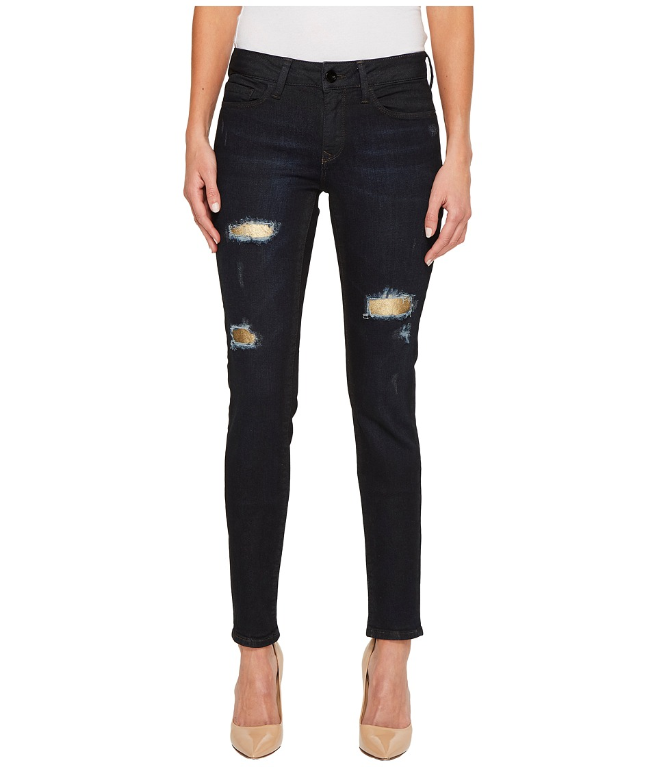 Mavi Jeans - Adriana Gold Patched in Blue (Blue) Women's Jeans