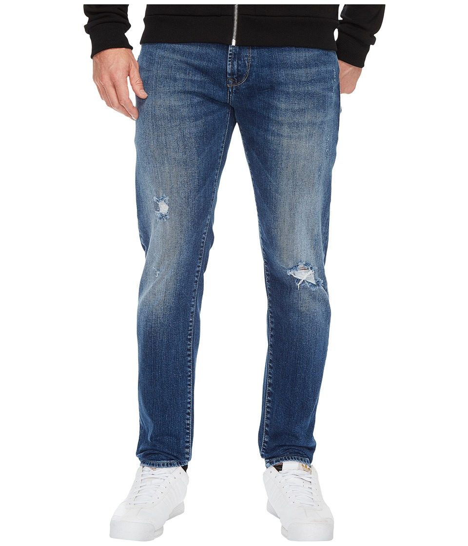 Mavi Jeans - Jake Mid Ripped in Blue (Blue) Men's Jeans