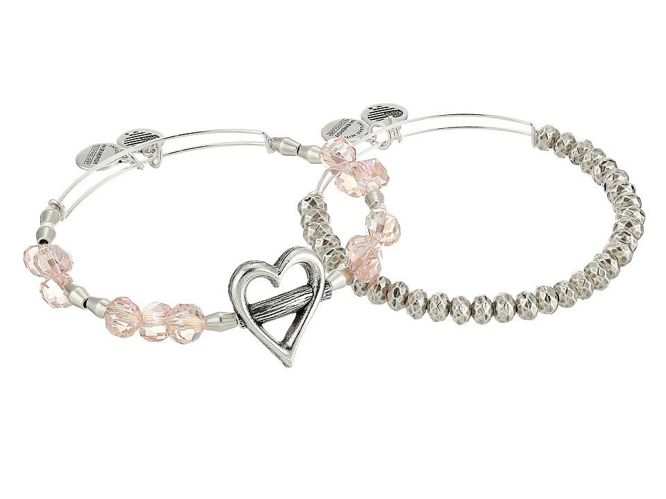 Alex and Ani - Heartfelt Set (Rafaelian Silver) Bracelet