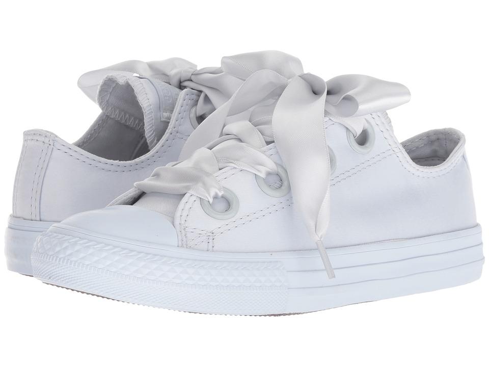 Converse Kids Chuck Taylor(r) All Star(r) Big Eyelets Ox (Little Kid/Big Kid) (Pure Platinum/Pure Platinum/Pure Platinum) Girls Shoes