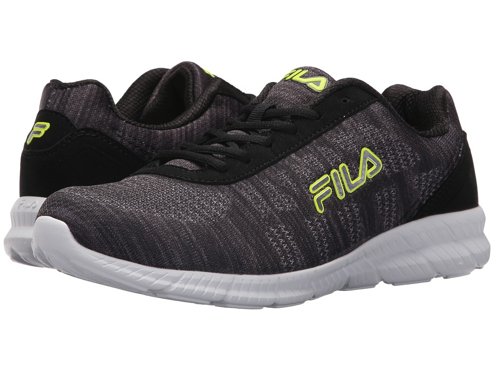Fila Memory Track Knit (Black/Monument/Safety Yellow) Men