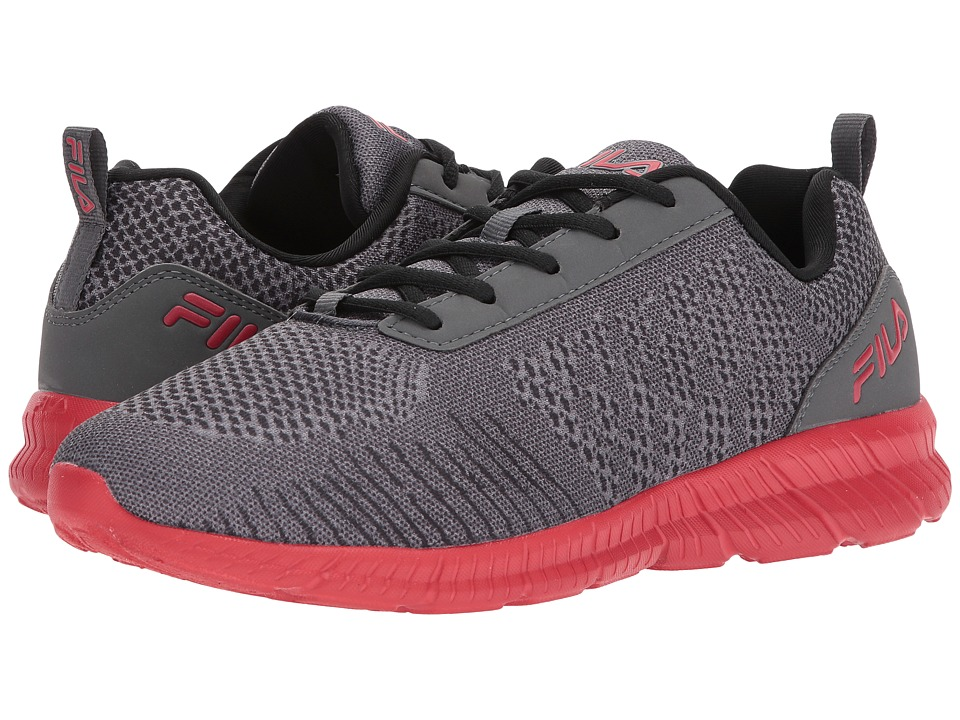 Fila - Memory V-Knit (Castlerock/Black/Fila Red) Men's Shoes