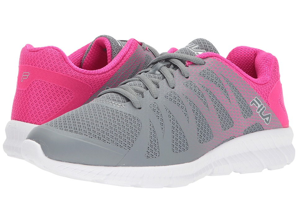 Fila - Memory Finition (Monument/Pink Glo/Metallic Silver) Women's Shoes