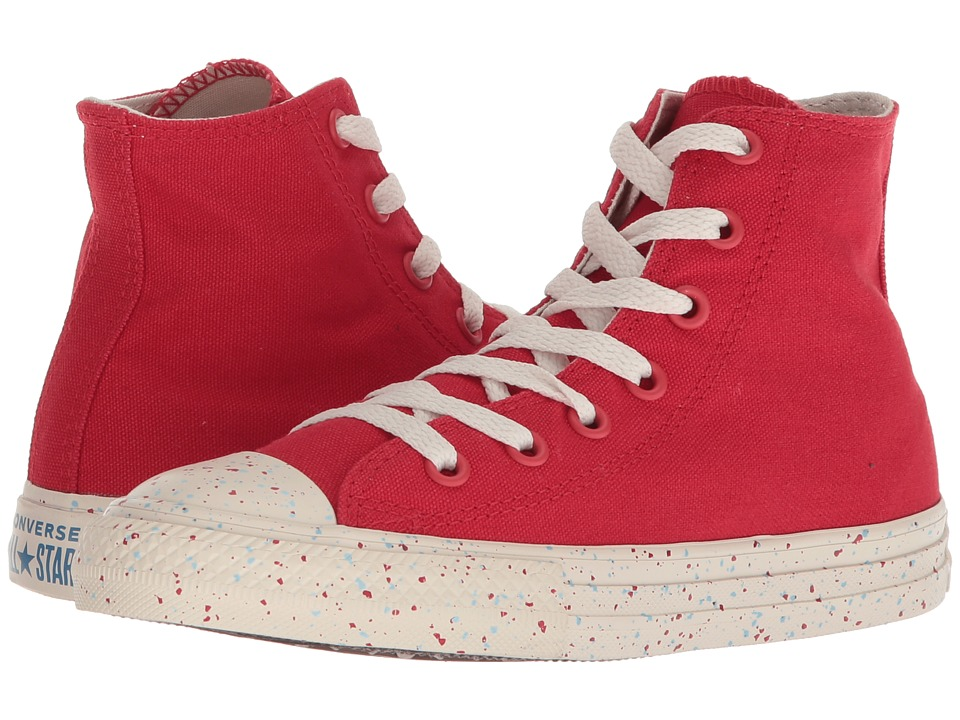 Converse Kids Chuck Taylor(r) All Star(r) Speckled Americana Hi (Little Kid/Big Kid) (Enamel Red/Driftwood/Aegean Storm) Kids Shoes