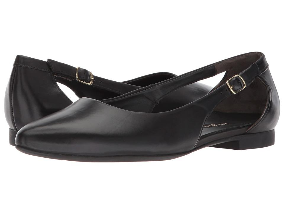 Paul Green Sassy Flat (Black Leather) Women