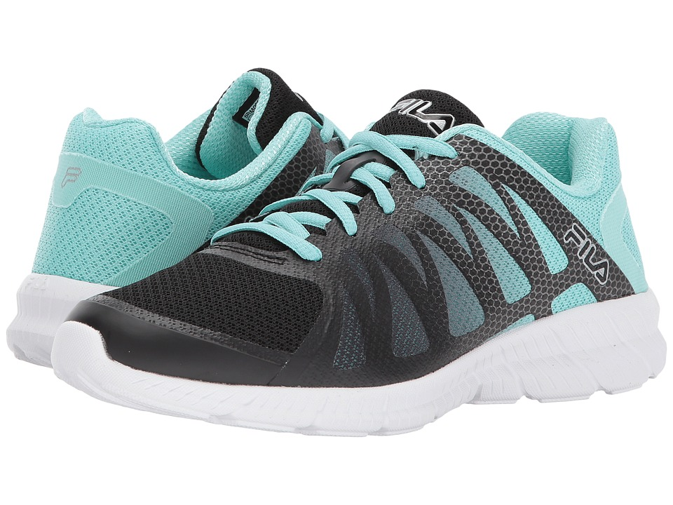 Fila Memory Finition (Black/Aruba Blue/Metallic Silver) Women