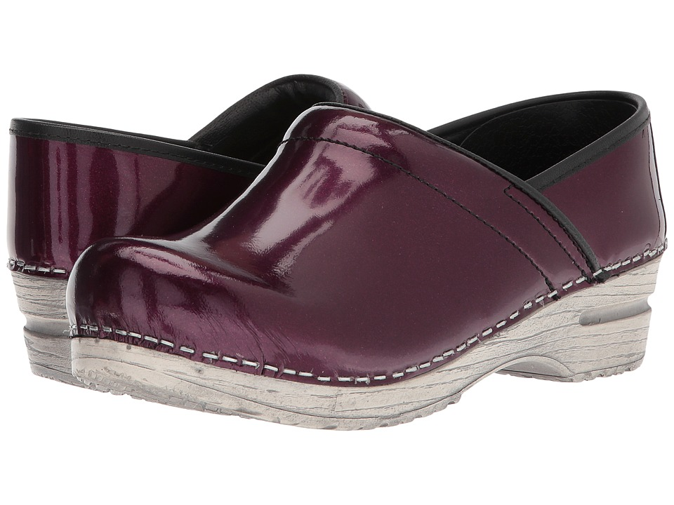 Sanita - Original - Pro. Limited Edition (Raspberry Leather) Women's Slip on Shoes