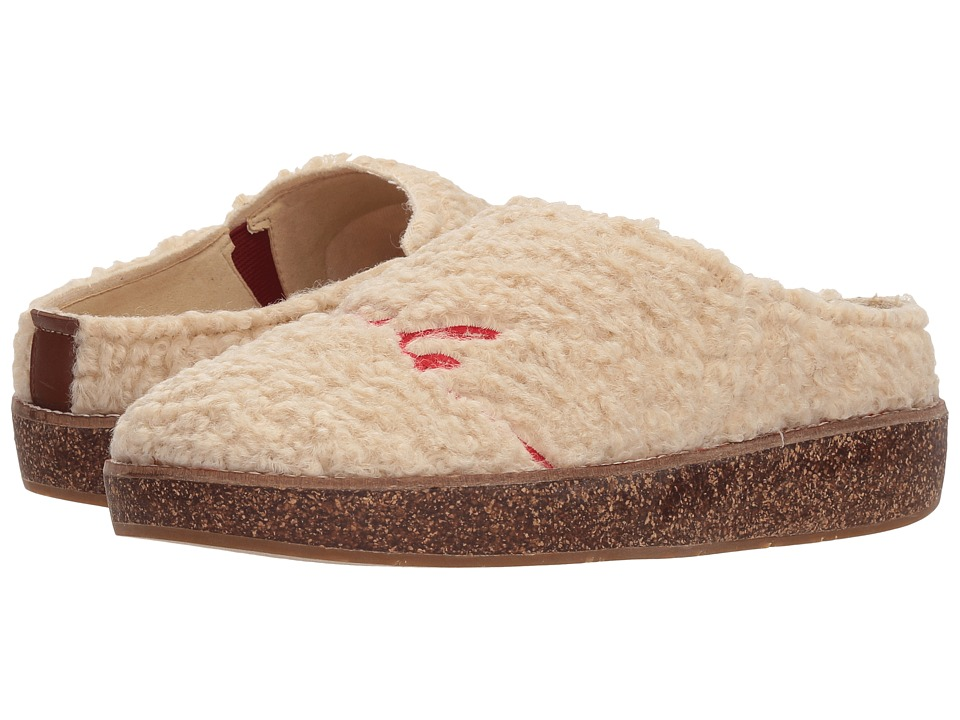 ED Ellen DeGeneres Tillie Slipper (Natural Curly Knit Fleece) Women