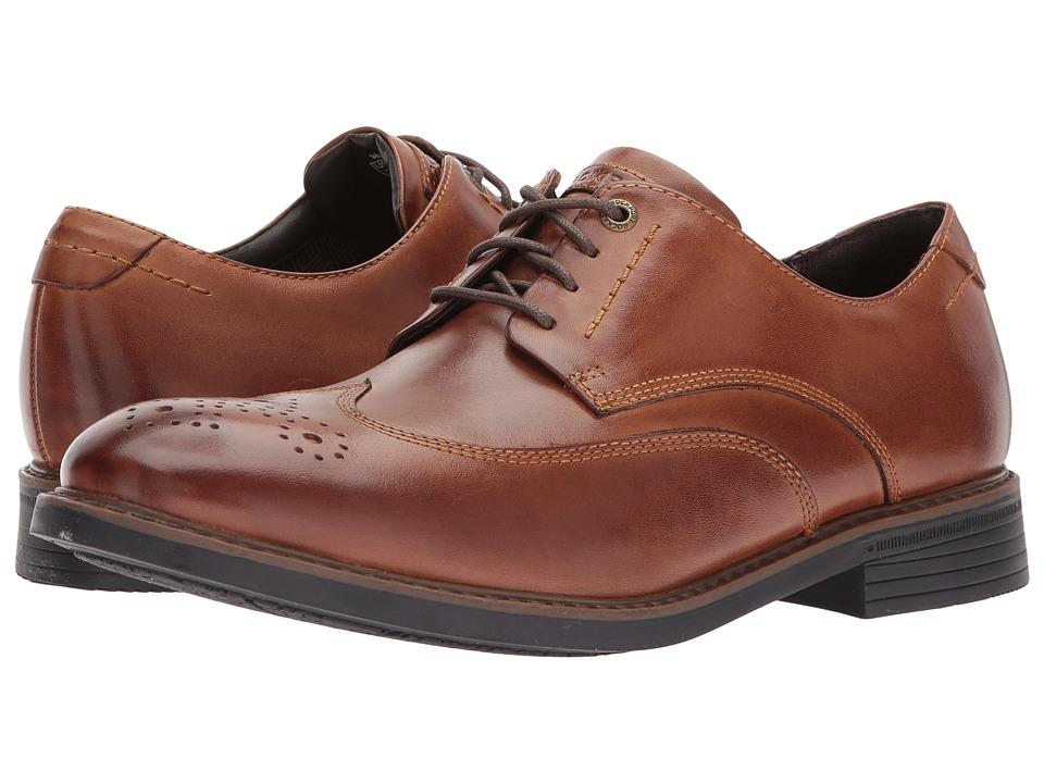 Rockport - Tailor Guide Wingtip (Dark Brown Leather) Men's Shoes