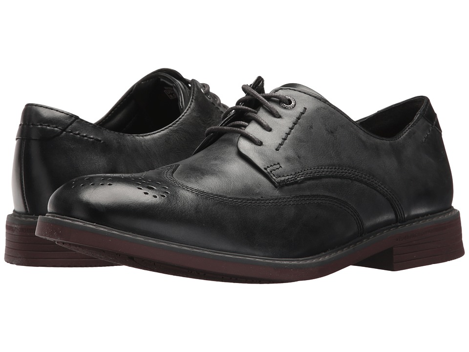 Rockport - Tailor Guide Wingtip (Dark Shadow Leather) Men's Shoes