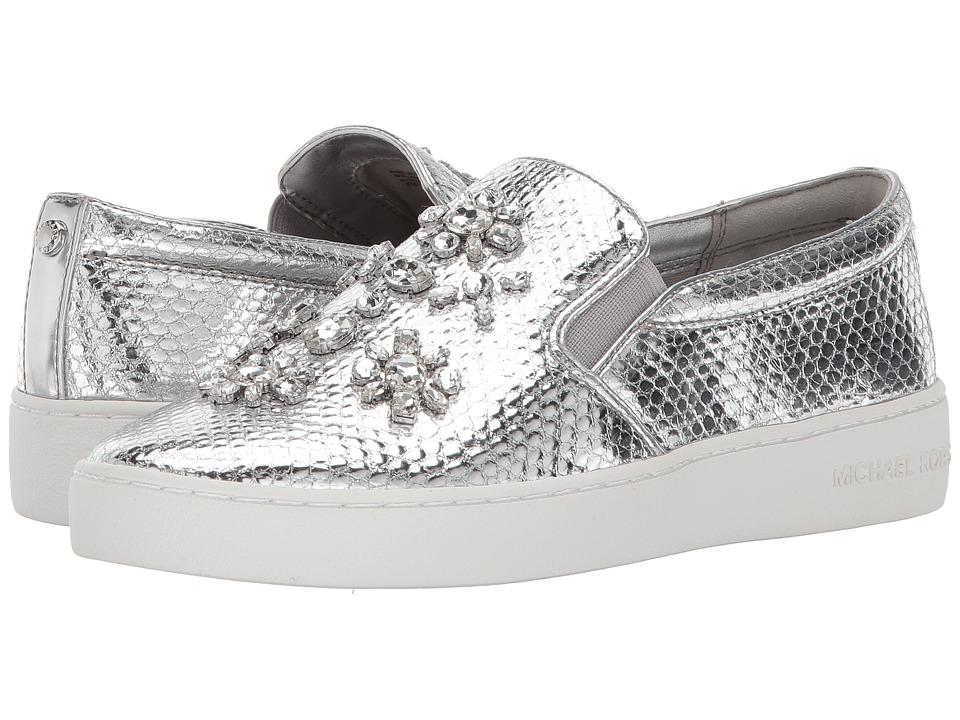 MICHAEL Michael Kors - Keaton Slip-On (Silver 1) Women's Shoes