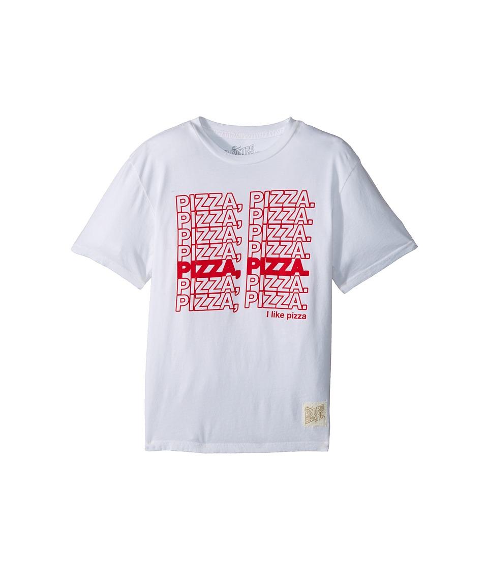 The Original Retro Brand Kids - Pizza Pizza Vintage Cotton Tee (Big Kids) (White) Boy's T Shirt