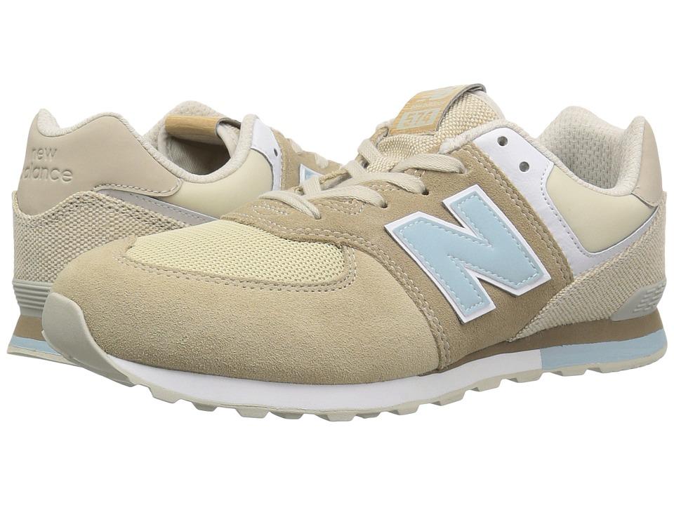 New Balance Kids GC574v1 (Big Kid) (Hemp/Incense) Kids Shoes